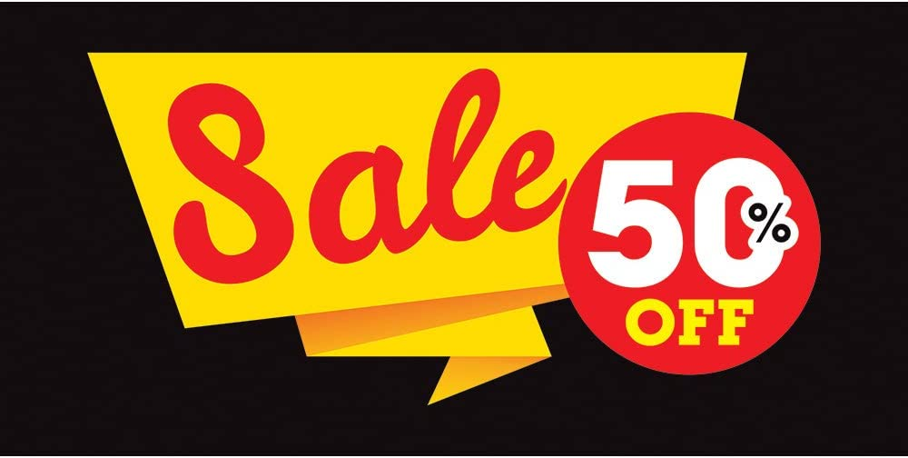 Sale 50/% Off 13 oz Banner Heavy-Duty Vinyl Single-Sided with Metal Grommets