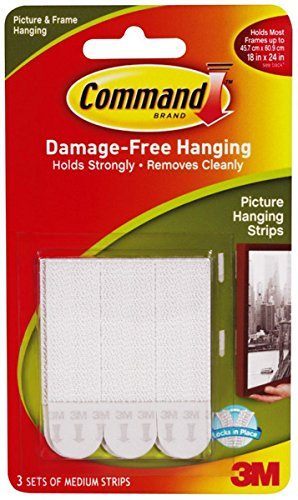 Picture Hanging Removable Interlocking Fasteners, 3/4 X 2 3/4, Set Of 3