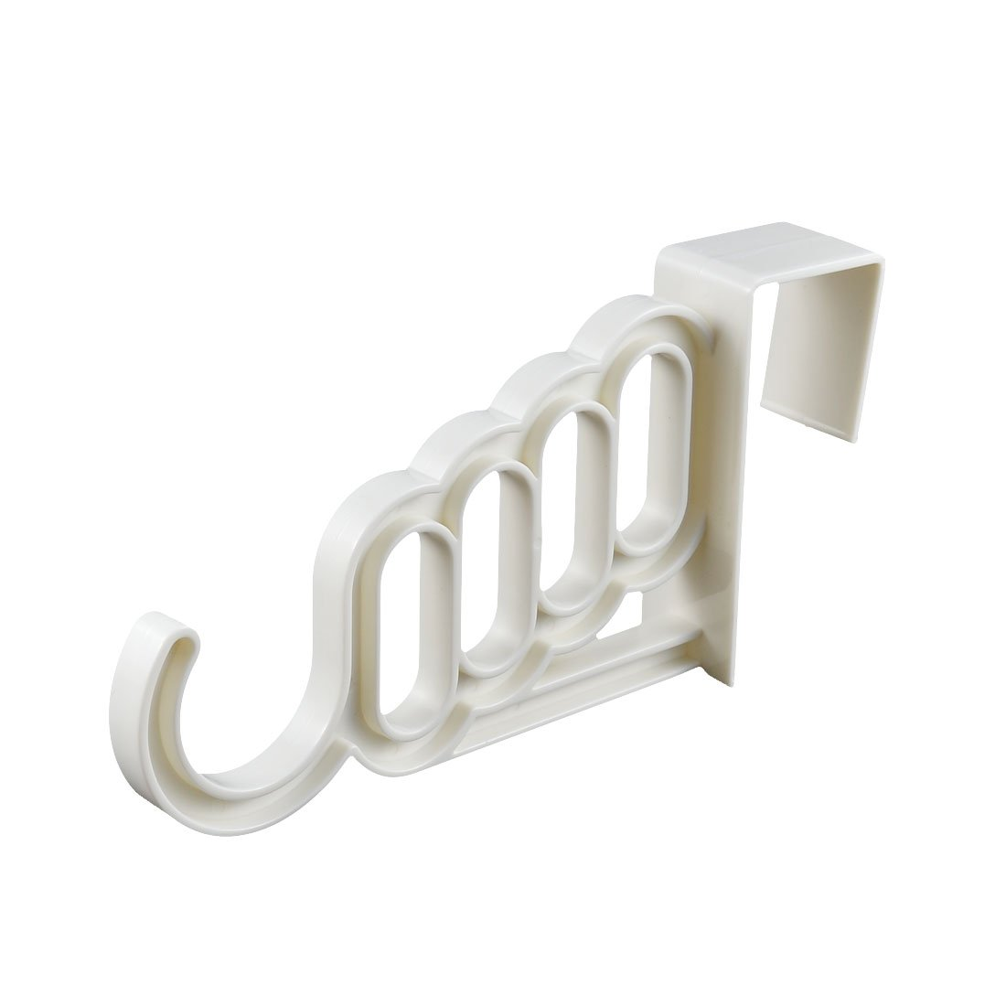 low-cost uxcell Plastic Indoor Office Over Door Wardrobe Clothes Hook 2pcs White