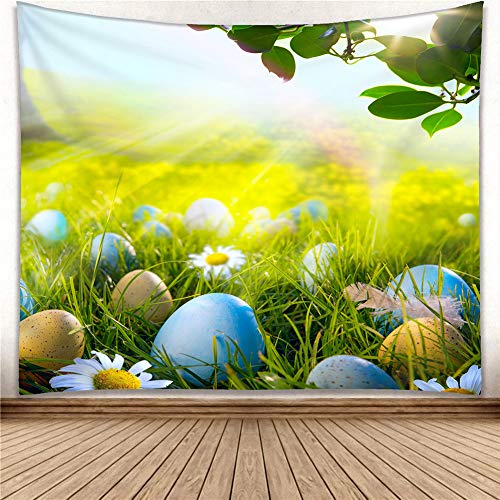 Wall Hanging for Home Decoration Easter Day Tapestry Flower Egg
