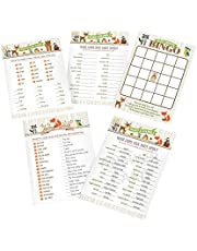 """Lillian Rose 24BS230 SG Woodland Baby Shower Game Cards, Neutral, 5""""x 7"""""""