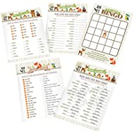 Lillian Rose Woodland Baby Shower Game Cards, Neutral...