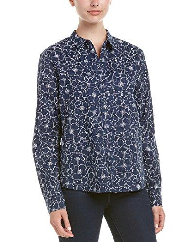 NYDJ Women's Linen Cotton Button Down Shirt, French Marke...