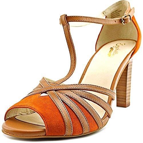 Seychelles Women's Lap Rust Suede/Tan Leather Sandal