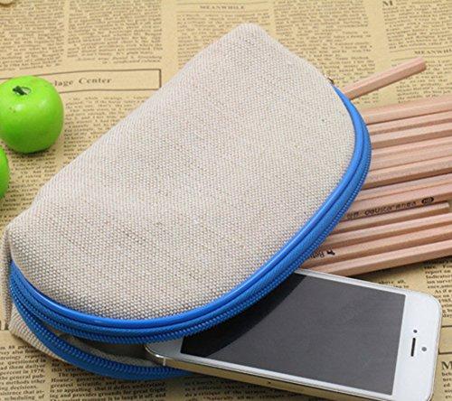 fablcrew Federmäppchen Modus Halbmeißel Bleistift Fall Reißverschluss Speicher-Kosmetik Tasche für Student 19.5*10*5.5cm orange rose