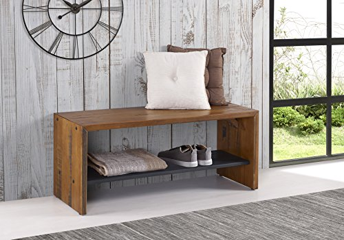 WE Furniture Reclaimed Wood Entry Bench in Amber - 42'' by WE Furniture