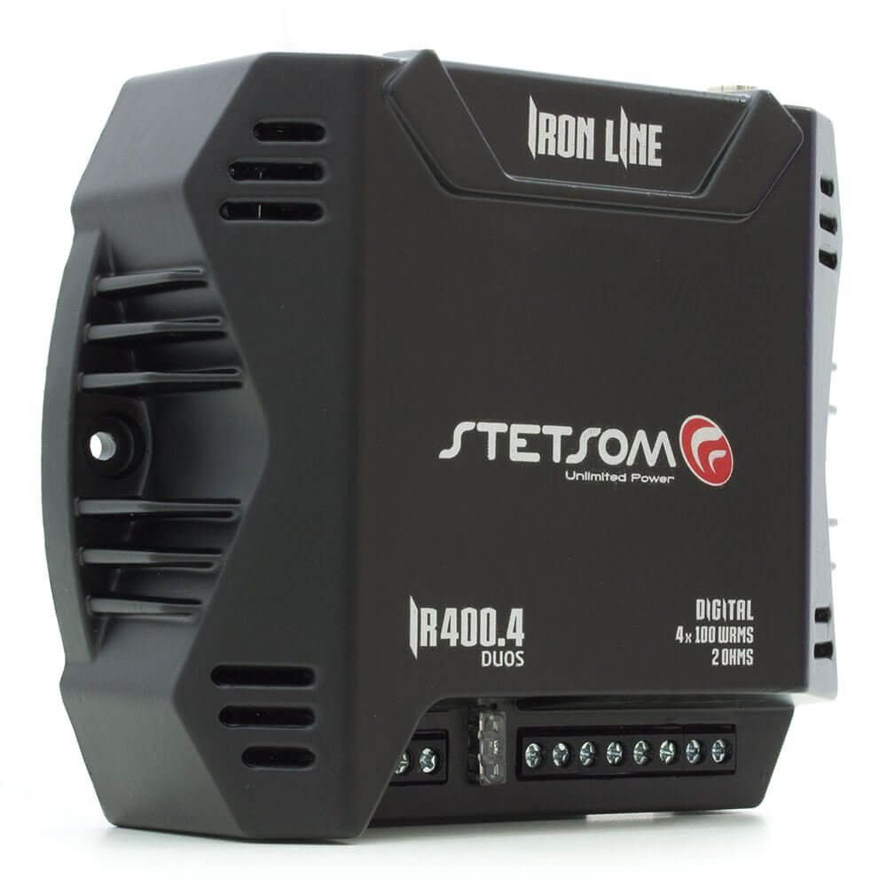 Iron Line Car Audio 400W Compact Amplifier 4 channel STETSOM IR400.4 2 ohms