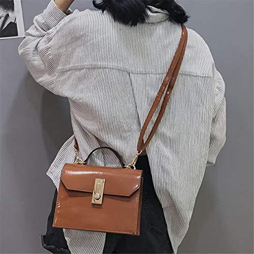 Brown Hombro Mujer Simple De Bolso Para Charol Black 1ZapWq