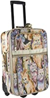 World Traveler Animal Print Collection 20-inch Expandable Carry On Rolling Luggage