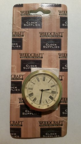 Face Roman Insert (Brass Fit-Up Insert Clocks, Roman Numbers, Classic Ivory Dial, 50mm, 2 Inch)