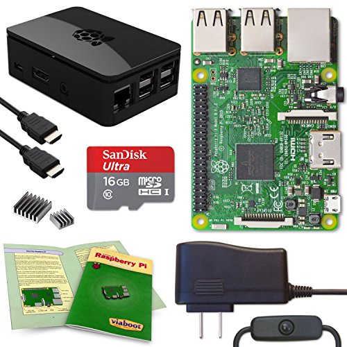 Viaboot Raspberry Pi 3 Complete Kit — Official Micro SD Card, Premium Black Case Edition by Viaboot
