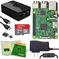 Viaboot Raspberry Pi 3 Complete Kit — Official Micro SD Card, Premium Black Case Edition