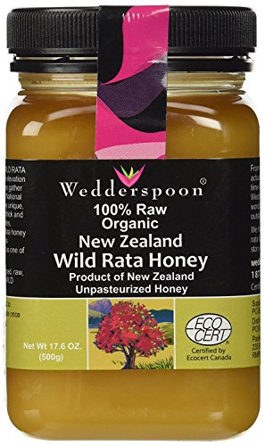 Wedderspoon Honey New Zealand 100 Percent Raw Organic Wild Rata, 17.6 Ounce ()