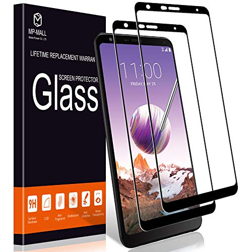 MP-MALL [2-Pack] Screen Protector for LG Stylo 4, [Tempered Glass] [Full Cover] with Lifetime Replacement Warranty ()