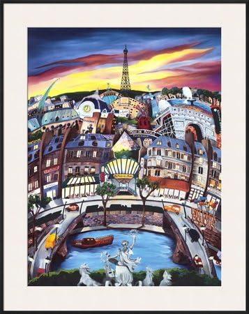 April in Paris Póster con diseño de cuadro de Linnea Pergola, 31 x 39: Amazon.es: Hogar