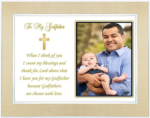 to my godfather gift from godchild on baptism day thank you godfather poem in gold and silver frame with photo area in the uae