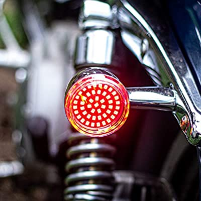 Eagle Lights Generation II Midnight Edition 2 Inch LED Turn Signals with White Running Lights (Front (1157) and Rear (1157) LED Turn Signal Kit, Add Smoked Lenses) for Harley Davidson: Automotive