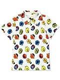 Sesame Street Gang Elmo Boys Baby Toddler Polo Collared Shirt (4T, White Polo)