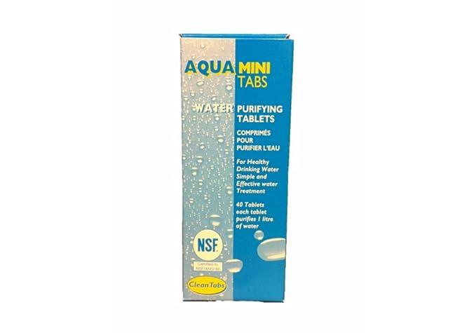 1 opinioni per Aqua Clean mini Tabs 40acqua purificante compresse per barche roulotte camper