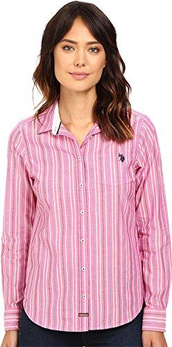 U.S. Polo Assn. Juniors  Long Sleeve Striped Poplin Woven Shirt