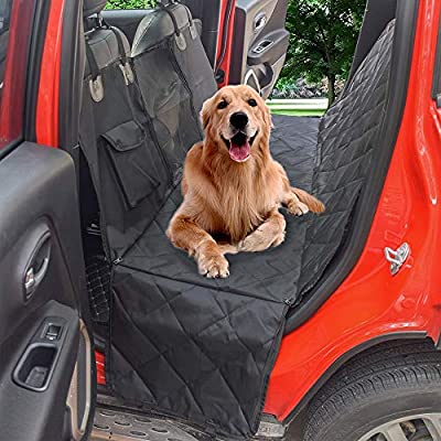 Machine Washable Pet Cover Durable Dog Travel Hammock with Seat Anchors Dog Car Seat Cover Waterproof /& Scratch Proof /& Nonslip Back Seat Cover Universal fits All Cars