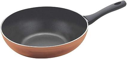 Metaltex NATIVA Copper-Lote 3 Sartenes Aluminio Forjado con Acabado Cobre 22 Antiadherente 2 Capas 18 Full Induction v/álido para Todo Tipo de cocinas 26 cm