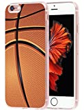 Iphone 6S Plus Case Basketball MUQR Iphone 6 Plus Case Cover Silicone Rubber Protective + Basketball Sport Design Pattern