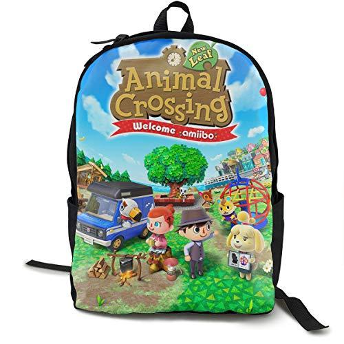BOKAIKAI1306 Lovely Animal Crossing Unisex Adults Backbag Women Mens Schoolbags Canvas Gift Daypack Bookbags for Teen Book