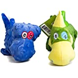 Pet Magasin Dinosaurs Dog Plush Toys - Stuffed & Squeaky Pet Companionship by