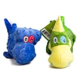 Image of Jackie & Kiki Dinosaurs Dog Plush Toys - Stuffed & Squeaky Dog Toys Fetch by Pet Magasin
