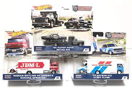 Hot Wheels 2019 Car Culture Team Transport Case C 3 Car Set, Datsun, Nissan and Super Nova 1/64 Scale Diecast Vehicles 1/64 Scale Diecast Vehicles