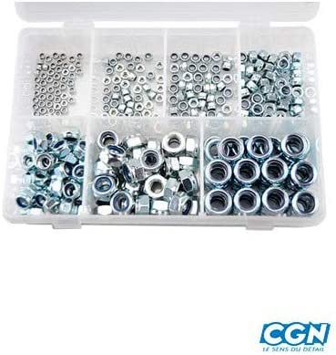 Motodak ecrou 6 pans nylstop//Frein Zinc m3//m4//m5//m6//m8//m10//m12 Coffret 320 pcs