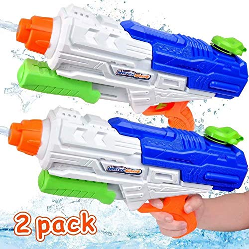 MOMOTOYS Water Gun Toys 2 Pack Water Blasters Super Soaker 1250CC High Capacity SquirtGuns Long Range 35Ft Water Pistol Shooter Pool Party Favors for Kids Adults Game Summer Gift Water Fun Fight Toys