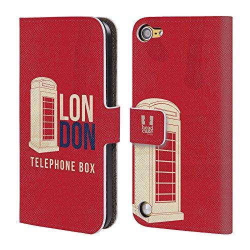 Head Case Designs Cabina Telefonica Il Meglio Di Londra Cover a portafoglio in pelle per iPod Touch 5th Gen / 6th Gen