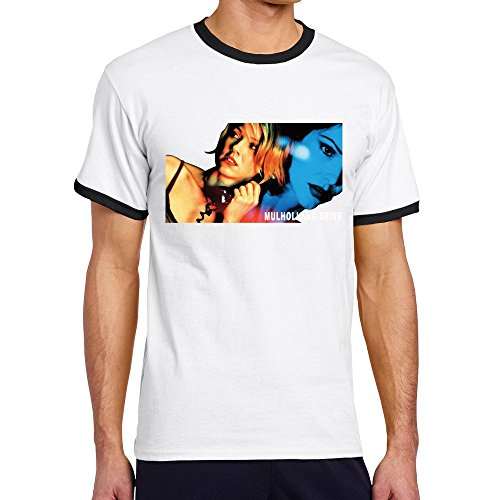 Men's Cool Mulholland Drive Contrast Ringer Tshirt S Black