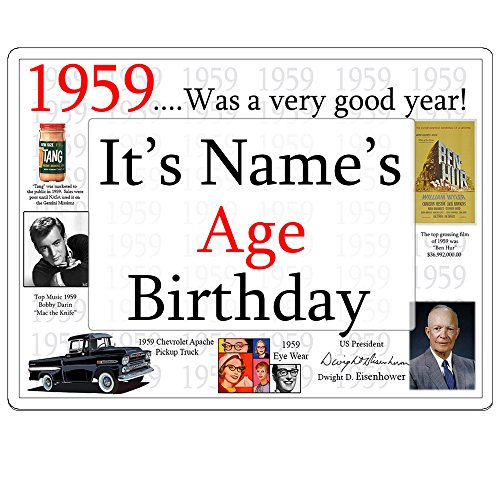 1959 60th Birthday Customized Door Poster (Each) by Partypro from Partypro