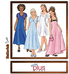 Amazon Com Butterick B4385 Girl S Plus Size Special