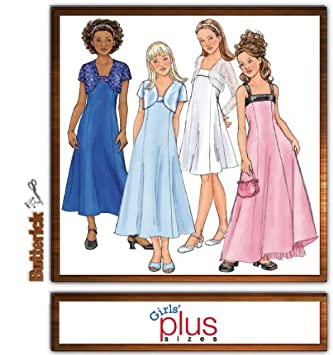 Amazon.com: Butterick B4385 Girl\'s Plus Size Special ...