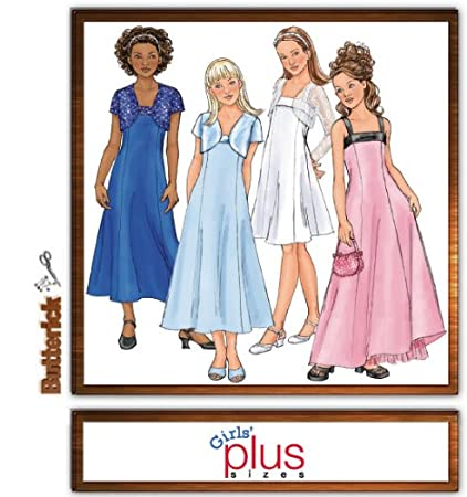 Amazon Butterick B4385 Girls Plus Size Special Occasion Dress