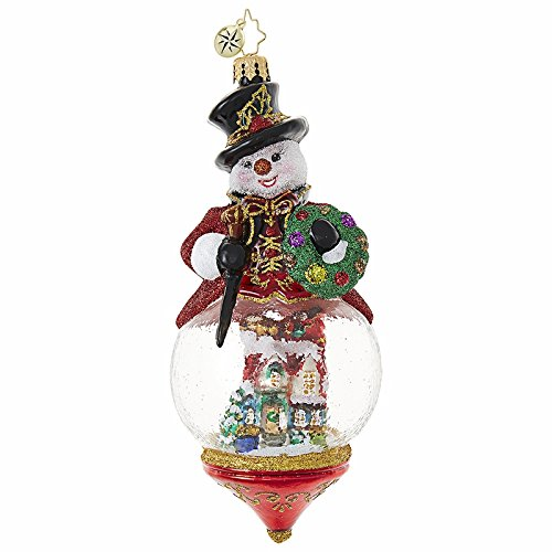 Christopher Radko Christmas Ornament Resting on Laurels GLASS 6.5