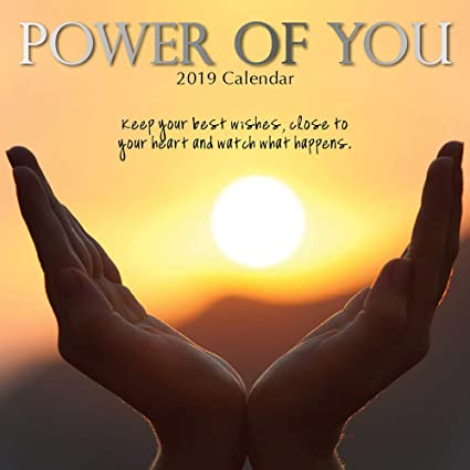 2019 Wall Calendar - Power of You Calendar, 12 x 12 Inch Monthly View, 16-Month, Motivational Inspirational Theme, Includes 180 Reminder Stickers