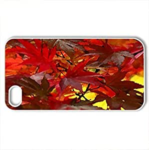 Autumn Leaves - Case Cover for iPhone 4 and 4s (Watercolor style, White)