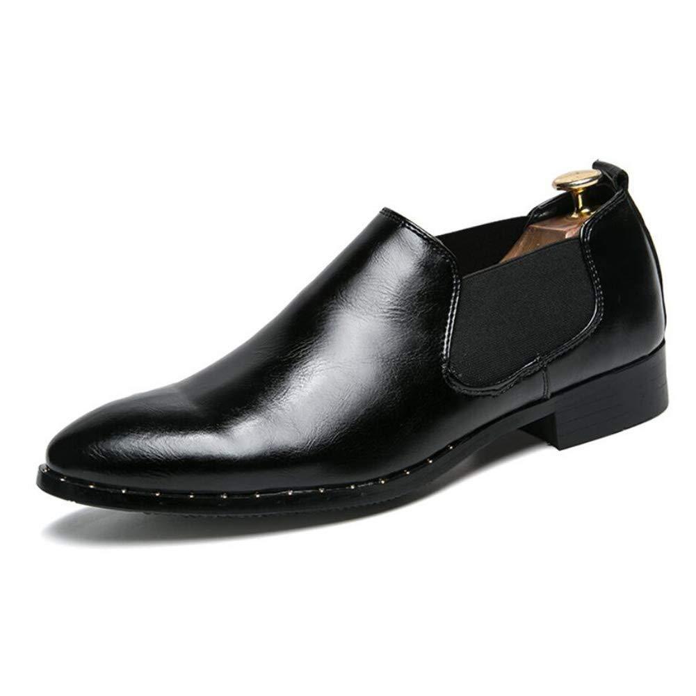 Herren Business-Schuhe, 2018 Frühling Herbst Lederschuhe, Trend Spitzen Freizeitschuhe, Britischen Stil Comfort Formelle Kleid Schuhe (Farbe   EIN, Größe   40) (Farbe   On, Größe   39)