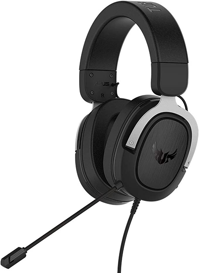 ASUS TUF Gaming H3 - Auriculares Compatibles con PC, Mac, PS4, Nintendo Switch, Xbox One y teléfonos móviles, con sonido envolvente 7.1, graves potentes, altavoces Asus Essence, Plata: Amazon.es: Electrónica