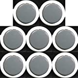 Japan Sanwa 8 Pcs OBSF-30 White & Grey OEM Arcade Push Button