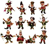 Mark Roberts Elves Twelve Days of Christmas Elf Set of 12, Small Sizes 51-68230