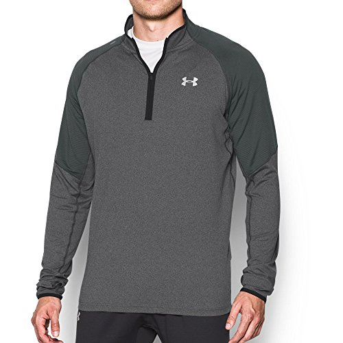Under Armour Men's No Breaks Run 1/4 Zip, Carbon Heather/Carbon Heather, Small by Under Armour (Image #4)