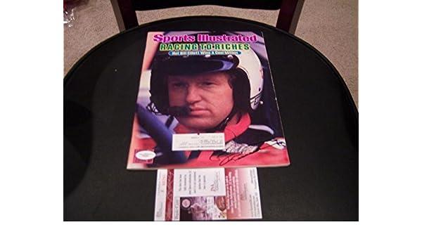 e2b4b69e4 Bill Elliott Nascar coa Signed Sports Illustrated - JSA Certified ...