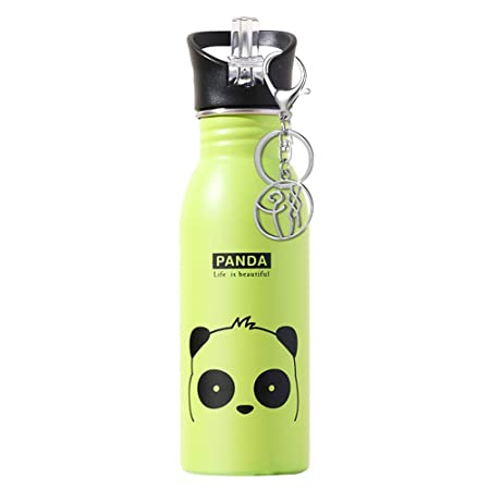 SHOH Botella De Agua para Niños,Botellas De Bebidas,Acero Inoxidable,Animal Lindo,a Prueba De Fugas Sin BPA,Botella De Bebida De Viaje para ...