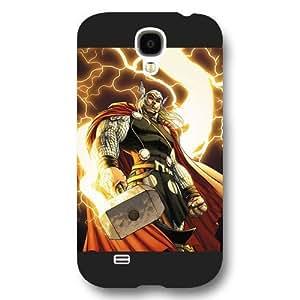 UniqueBox Customized Marvel Series Case for Samsung Galaxy S4, Marvel Comic Hero Thor Samsung Galaxy S4 Case, Only Fit for Samsung Galaxy S4 (Black Frosted Case)